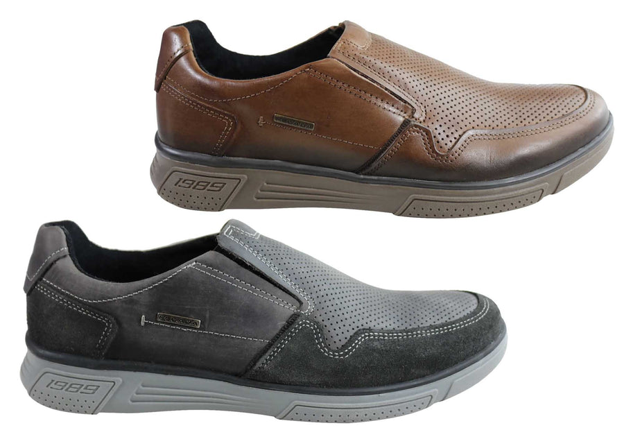 Pegada Dan Mens Leather Slip On Comfort Casual Shoes Made In Brazil