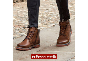 Ferricelli Greg Mens Comfortable Leather Boots Made In Brazil