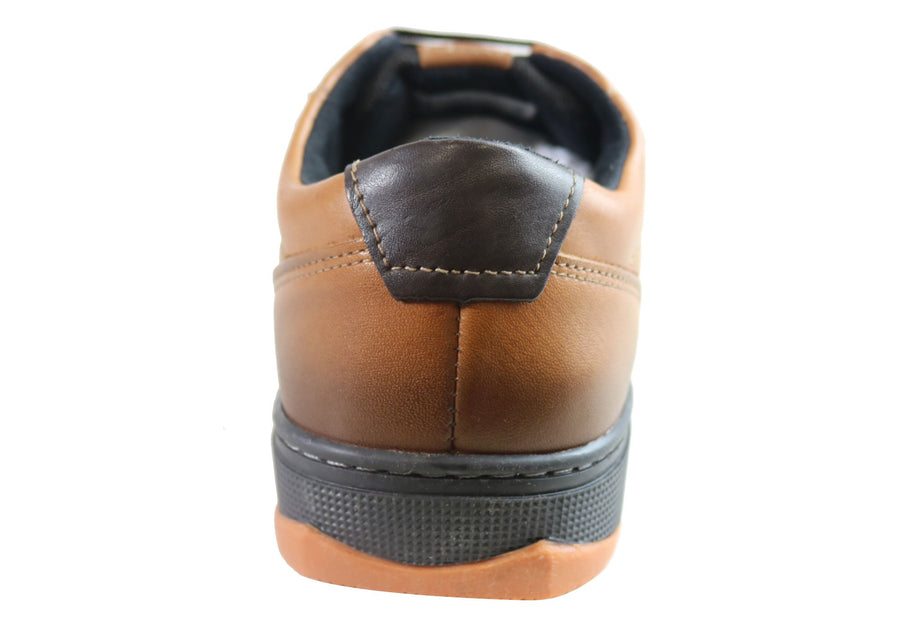 Pegada Isaac Mens Leather Slip On Comfort Casual Shoes Made In Brazil