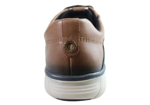 Pegada Carter Mens Leather Slip On Comfort Casual Shoes Made In Brazil