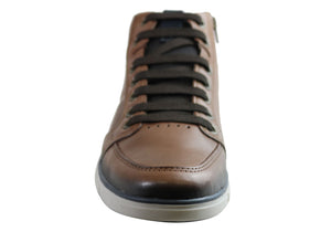 Pegada Damian Mens Leather Comfortable Casual Boots Made In Brazil