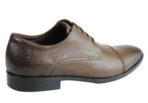 Democrata Harry Mens Leather Cushioned Dress Shoes Made In Brazil