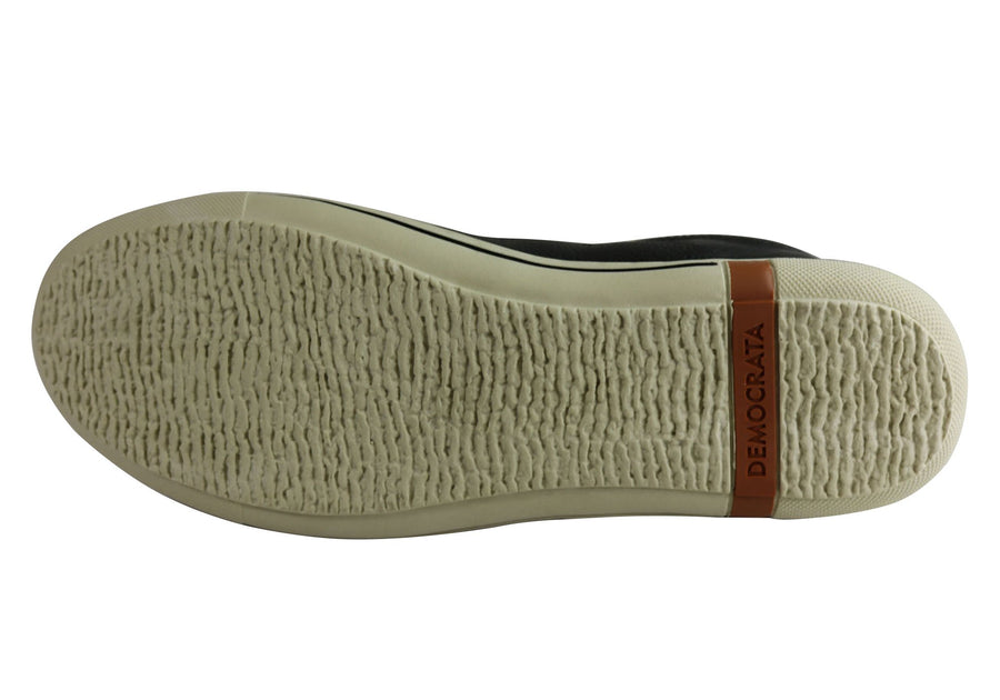 Democrata Vise Mens Leather Slip On Casual Shoes Made In Brazil