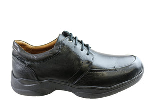 Sollu Ascott Mens Leather Lace Up Comfort Shoes Made In Brazil
