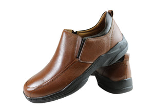 Sollu Dolan Mens Leather Slip On Comfort Shoes Made In Brazil