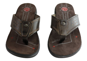 Pegada Villa Mens Leather Cushioned Thongs Sandals Made In Brazil
