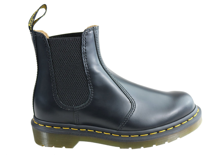 Dr Martens 2976 Black Smooth Unisex Leather Chelsea Boots