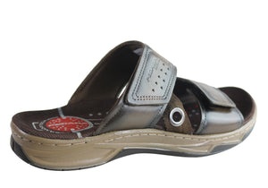 Pegada Henderson Mens Cushioned Comfort Slide Sandals Made In Brazil