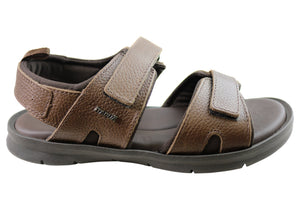 Itapua Bob Mens Leather Comfortable Sandals Made In Brazil