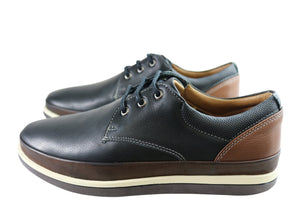 Sollu Lucca Mens Leather Lace Up Casual Shoes Made In Brazil