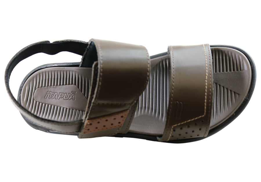 Itapua Pauly Mens Leather Comfortable Sandals Made In Brazil