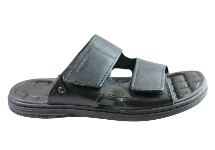Pegada Fletcher Mens Cushioned Comfort Slide Sandals Made In Brazil