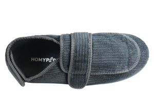 Homyped Mens Arnold 2 Comfortable Adjustable Strap Extra Wide Slippers
