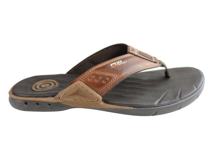 Pegada Gary Mens Cushioned Comfort Thongs Sandals Made In Brazil