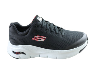 Skechers Mens Comfortable Arch Fit Lace Up Athletic Shoes