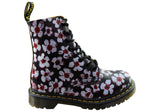 Dr Martens 1460 Pascal Floral Womens Leather Fashion Lace Up Boots
