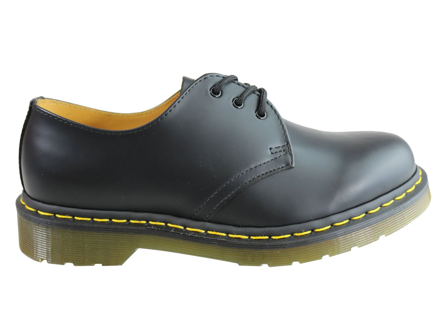 Dr Martens 1461 Classic Black Smooth Lace Up Comfortable Unisex Shoes