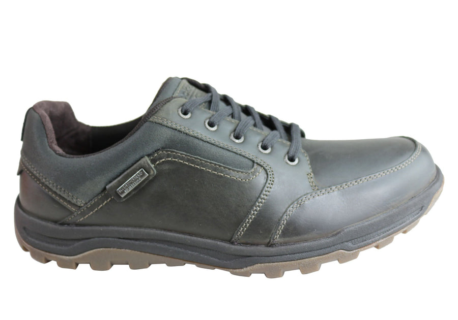 Rockport Mens Harlee Lace To Toe Waterproof Wide Fit Leather Shoes