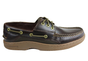 Sperry Mens Billfish Comfortable Wide Fit Leather Boat Shoes