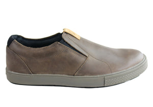 merrell slip on leather shoes