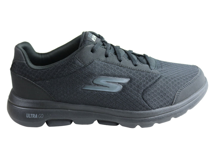 Skechers Mens Go Walk 5 Qualify Extra Wide Fit Machine Washable Shoes