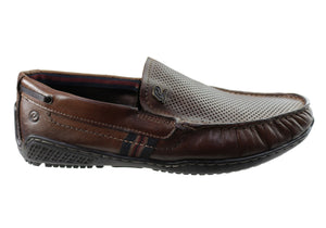 Pegada Yossi Mens Comfortable Leather Loafers Shoes Made In Brazil