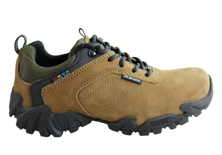 Bradok Kilauea LW Mens Comfortable Leather Hiking Shoes Made In Brazil