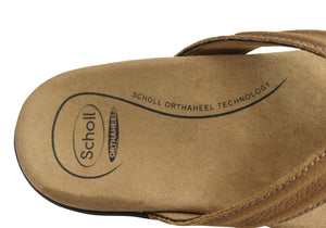 Scholl Orthaheel Bondi II Mens Comfort Orthotic Thongs With Support