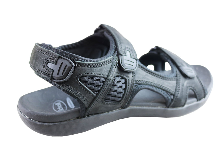Scholl Orthaheel Bronte Mens Supportive Comfort Leather Sandals
