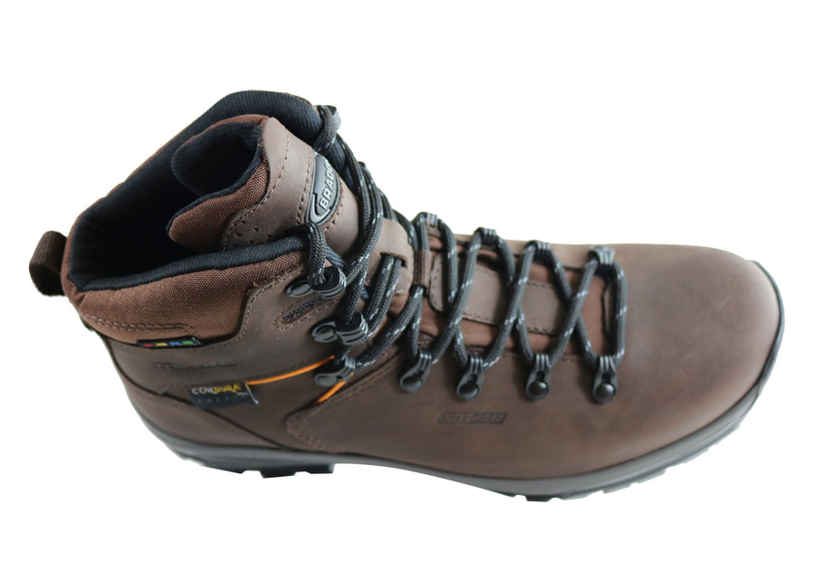 Bradok Kilimanjaro Mens Comfort Leather Hiking Boots Made In Brazil