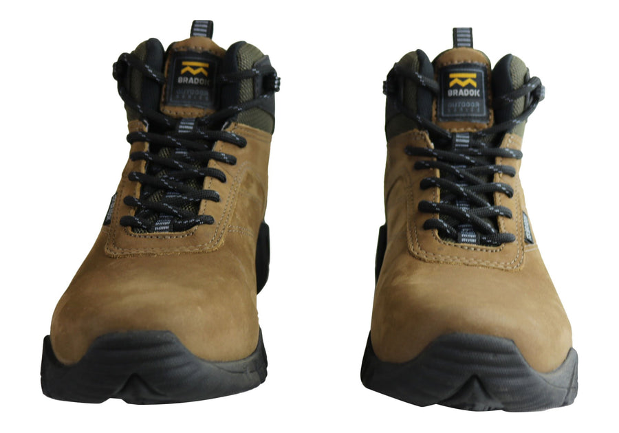 Bradok Kilauea Mens Comfortable Leather Hiking Boots Made In Brazil