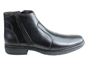 Savelli Aston Mens Comfortable Leather Dress Boots Made In Brazil