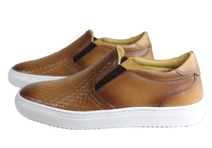 Savelli Accord Mens Comfy Leather Slip On Casual Shoes Made In Brazil