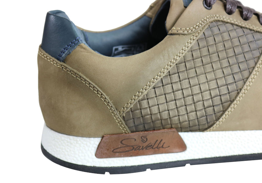 Savelli Holster Mens Leather Lace Up Casual Shoes Made In Brazil