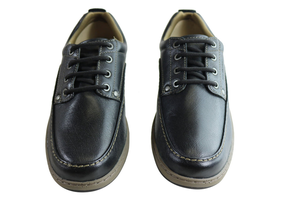 Bradok Mens Classic Lace Comfortable Leather Shoes Made In Brazil
