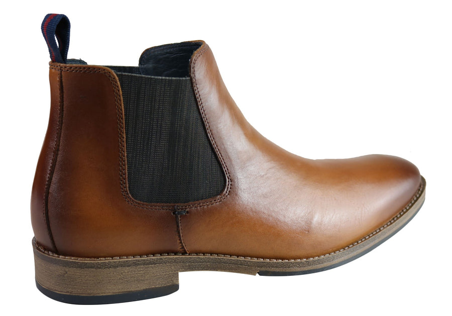 Savelli Legend Mens Comfort Leather Chelsea Dress Boots Made In Brazil