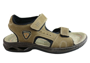 Pegada Thompson Mens Leather Comfort Cushioned Sandals Made In Brazil