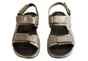 Pegada Jeff Mens Leather Comfortable Cushioned Sandals Made In Brazil