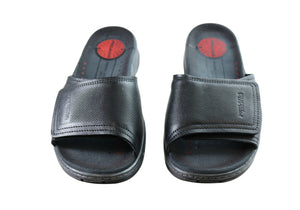 Pegada Bernie Mens Leather Comfortable Slide Sandals Made In Brazil