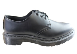 Dr Martens 1461 Mono Black Smooth Lace Up Comfortable Unisex Shoes