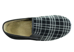 Scholl Orthaheel Spencer Mens Comfortable Supportive Indoor Slippers