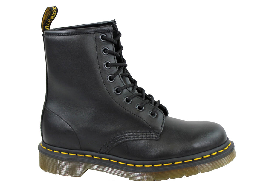 Dr Martens 1460 Black Nappa Fashion Lace Up Comfortable Unisex Boots