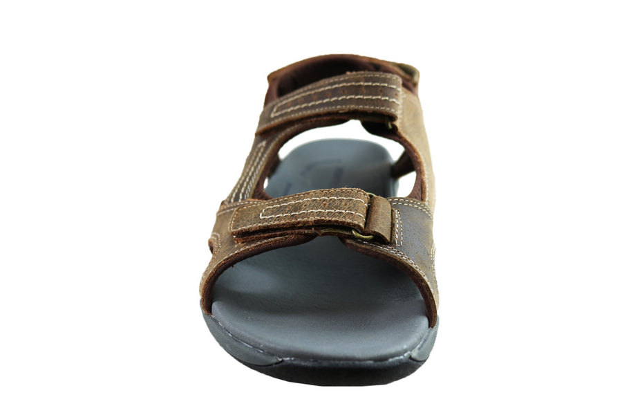Homyped Utah Mens Leather Supportive Comfort Extra Extra Wide Sandals