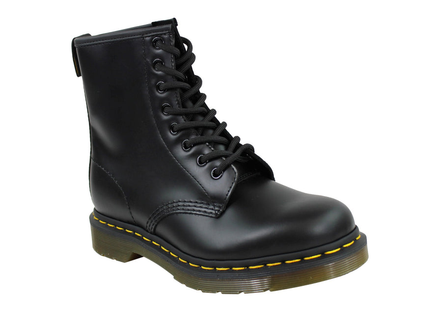 Dr Martens 1460 Black Smooth Unisex Leather Lace Up Fashion Boots