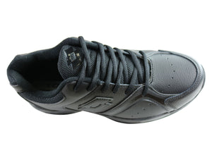 Lotto Multi Trainer Mens Comfortable Leather Lace Up Athletic Shoes