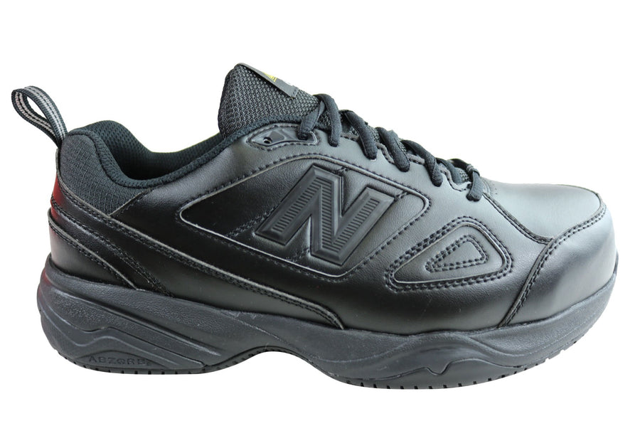 New Balance Mens 627 Steel Toe Slip Resistant 2E Wide Safety Shoes