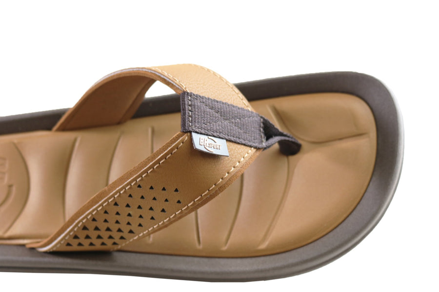 BR Sport Atlanta Mens Comfort Cushioned Thongs Sandals Made In Brazil