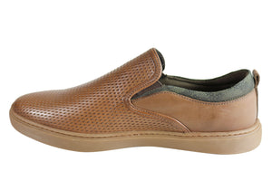 Ferricelli Atlas Mens Leather Cushioned Casual Shoes Made In Brazil