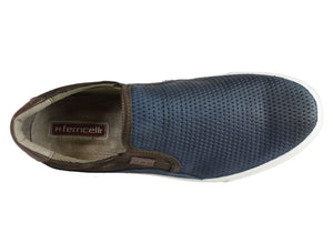 Ferricelli Kelvin Mens Leather Slip On Casual Shoes Made In Brazil