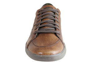Ferricelli Fabian Mens Leather Lace Up Casual Shoes Made In Brazil